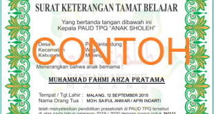 Contoh Ijazah Tk Archives Arif Blog